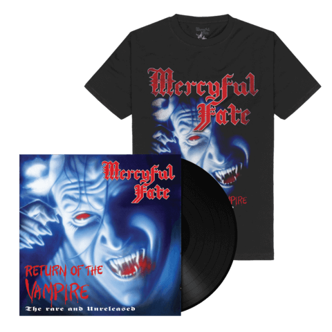 Return Of The Vampire (Black Vinyl + Shirt) von Mercyful Fate - Vinyl + T-Shirt Bundle jetzt im Mercyful Fate Shop